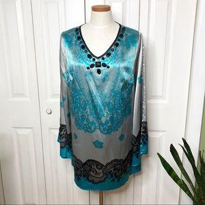Lane Bryant jeweled v-neck tunic, 14w-16w